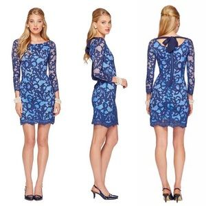 •Lilly Pulitzer• Aaliyah Blue Lace Dress True Navy